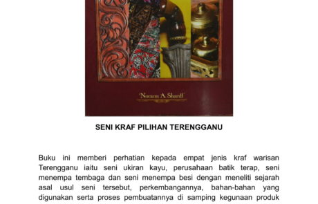 SENI KRAF PILIHAN TERENGGANU - EDISI DWIBAHASA - KULIT TEBAL (RM195.00)