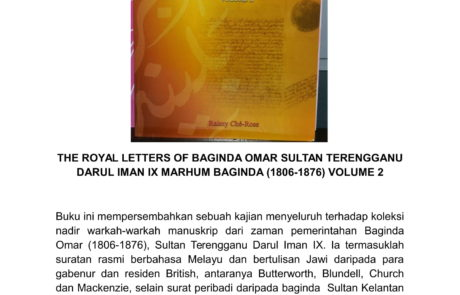 The Royal Letters of Baginda Omar -1806-1876 Vol 2 - (Kulit Tebal RM220) (Kulit Nipis RM160.00)