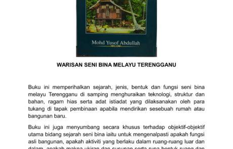 WARISAN SENI BINA MELAYU TERENGGANU - EDISI KULIT TEBAL (RM205.00)