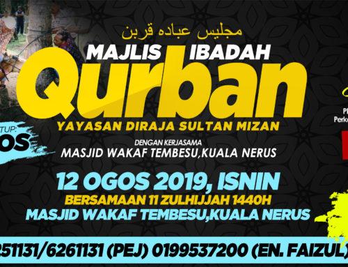 JEMPUTAN PENYERTAAN IBADAH QURBAN YDSM 1440 HIJRAH/2019